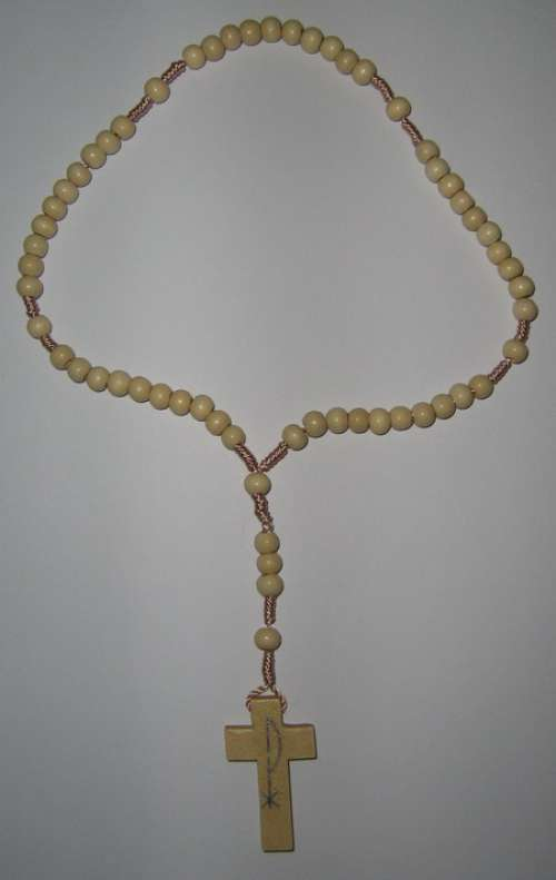 E8140017 - WR004 - Wooden Rosary - Rosary of Mary Mother of God (Gospa) of Medjugorje (Međugorje).