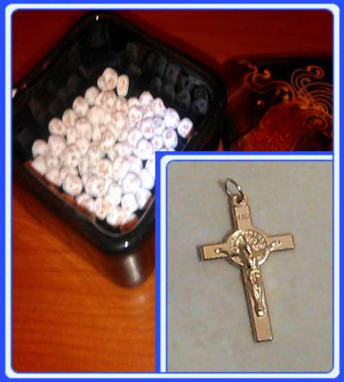 ROCK-CG - Crucfixes & Stone beads from Medjugorje (Rosario) set of 100-500 beads hand made of stone